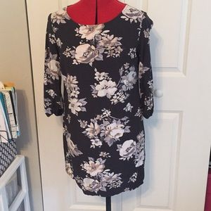 Old Navy Dresses - Black Floral Cotton Old Navy Dress